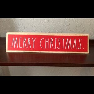 Rae Dunn Merry Christmas Wooden Sign